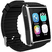 ZfgG Bluetooth-intelligente Uhr-wasserdichte Eignungs-Verfolger-Uhr mit Pulsmesser-Pedometer-Schlaf-Monitor-Stoppuhr SMS-Anruf-Mitteilungs-Fernkamera-Musik für IOS-Android-Telefon Perfekter Wohnassist