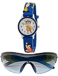 7aef8f3bdc4e sba prime Multicoloured Sports Sunglasses & Watch for Age 3 to 10 Years Boys .(