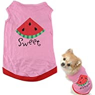 Malloom® Very Cute Small Dog Cat Shirt Small Clothes Vest T Shirt (L)