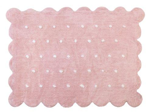 Aratextil Cookie Alfombra Infantil, Algodón, Rosa, 120x160 cm