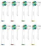 Brossettes Têtes de Remplacement Brosses à Dent Electrique pour Braun Oral B FlossAction & Oralb Professional Care -8 Pack SoniWhite
