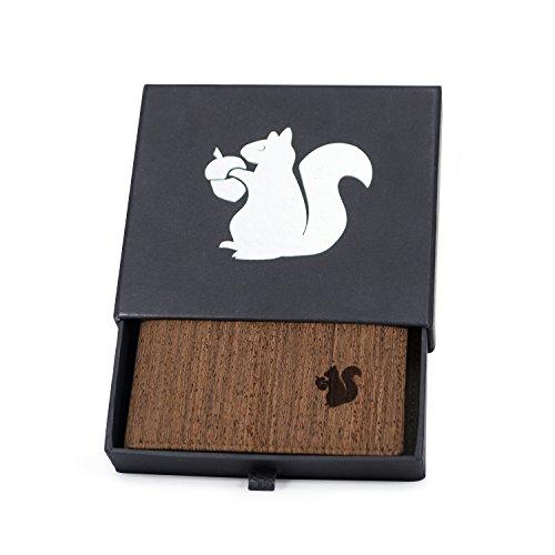 ACHERLA | Leichtes Bifold Herren Portemonnaie vegan aus Kork (dunkel) mit Geschenkbox wasserabweisendes, robustes, handmade Portemonee (dunkel) - 2