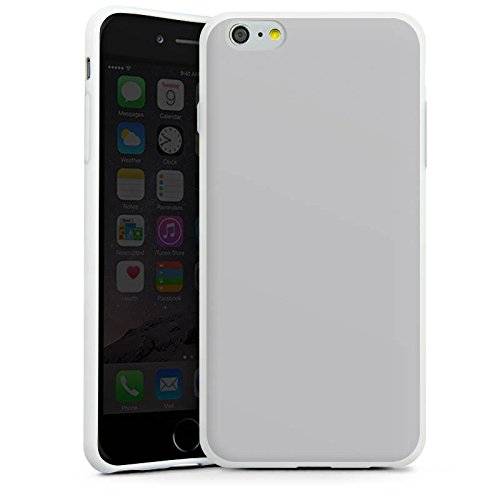 Apple iPhone X Silikon Hülle Case Schutzhülle Graphit Grau Grey Silikon Case weiß
