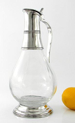 Weinkaraffe aus Glas und Zinn geblasen. von großer Bedeutung. durch italienische Handwerkskunst...