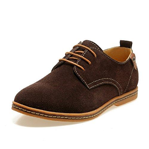 Sibba chaussures à lacets homme en Suede Oxfords Brun