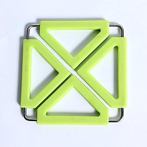 Y & B extensible Tapis et métal Dessous de Plat en silicone, support Hot Pot de