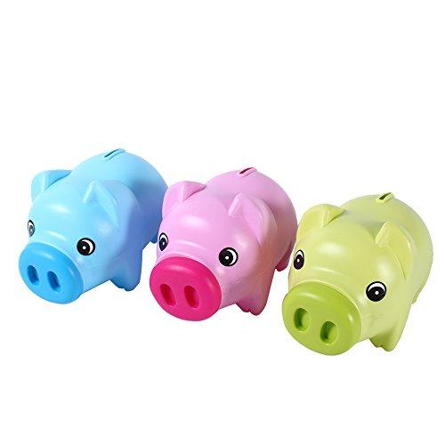 Hucha Hucha con forma de cerdo Moneda de plástico lindo Piggy Bank Moneda Cash Collectible Ahorro Caja Kids Gift