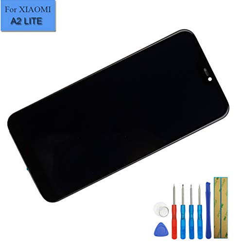 E-yiiviil Neuer Ersatz LCD Display Touchscreen Digitizer kompatibel mit Xiaomi Mi A2 Lite/Xiaomi Redmi 6 Pro Display LCD Assembly Glas Schwarz + Rahmen +Tools