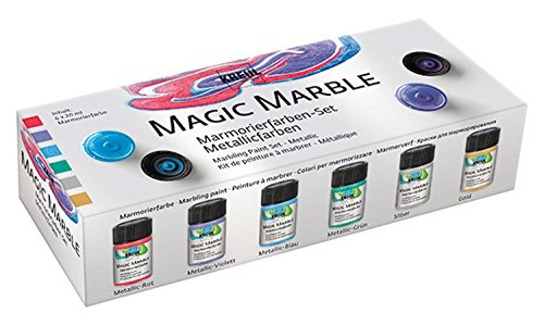 Hobby Line 73610 - Magic Marble Marmorierfarbe Set Metallic 6 x 20 ml