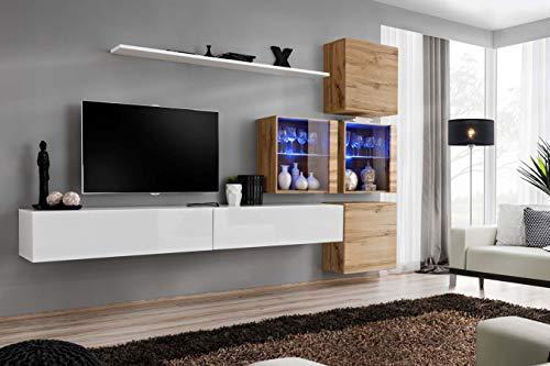 Juub switch xix wotan - parete a parete per salotto o armadio, con pannello a led, finitura lucida