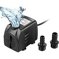 Lamantt Bomba de Agua - 1500L/H 25W Bomba Sumergible con 2 Boquillas de 4.9ft(1.5m) para Acuario Fuentes Estanque Sistemas Hidropónicos (para EU)