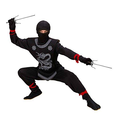 Gabel Kostüm - NET TOYS Spielzeug Sai Gabeln Ninja Waffe schwarz-silber Samurai Saigabeln Shogun Japaner Kostüm Zubehör