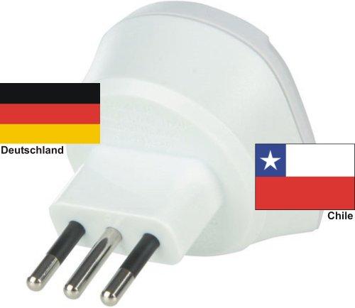 Adaptateur de voyage Chili sur l'Allemagne 220–230 V schuko mâle Conversion mâle prise Allemagne de voyage – Chili