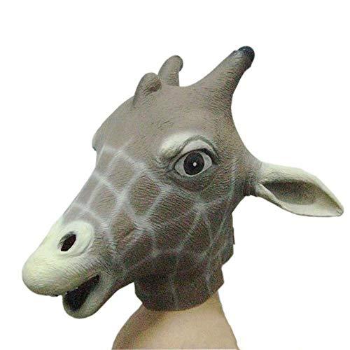 IENPAJNEPQN Latex Giraffe Hirschkopf Maske Halloween Ball Show Horn Tierbedarf Masken (Color : Giraffe, Size : One - Giraffe Hörner Kostüm