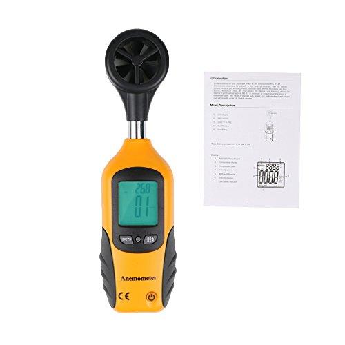 Preisvergleich Produktbild Befaith HT-81 Digital LCD Anemometer Windgeschwindigkeitsmesser Luftstrom Geschwindigkeitsmesser Temperatur Thermometer 32  -122