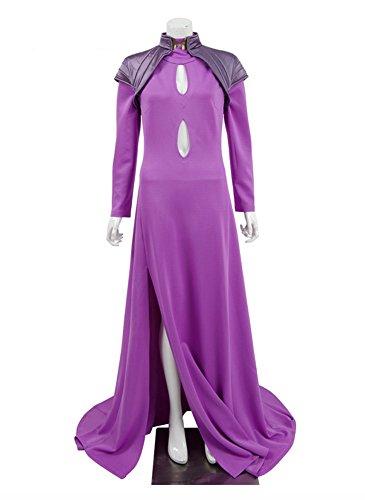 Damen Lila Fancy Kleid Halloween Party Kleider Cosplay Kostüme (S, Lila)