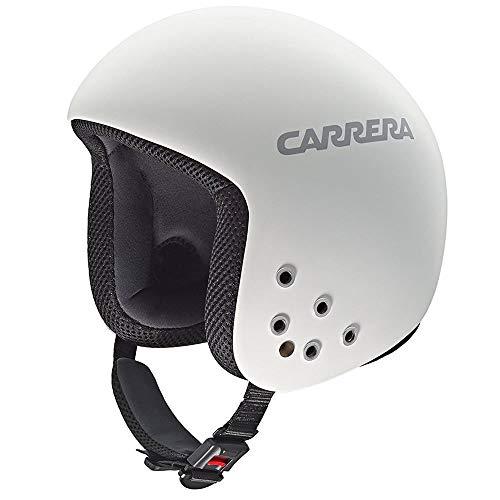 Carrera Bullet - Casco de esquí, color blanco mate, color blanco, tamaño XS