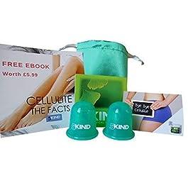 5kind KIT Coppetta AntiCellulite in Silicone 2 Pezzi | SET Borsetta da Viaggio + Istruzioni Complete + Ebook su…