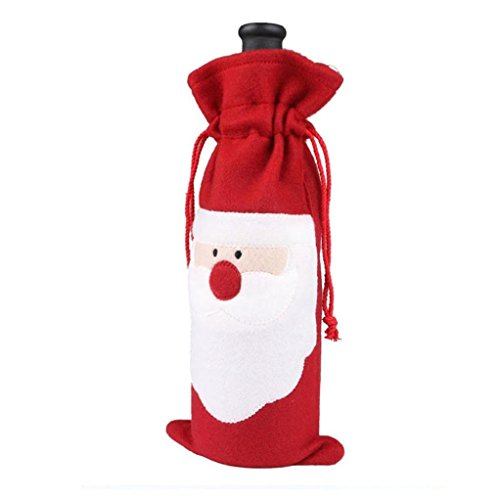 Funda, paquete botella vino diseño Navidad, bolsa
