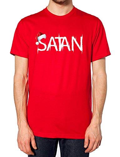 Satan Santa Hat T Shirt Rot - Rot