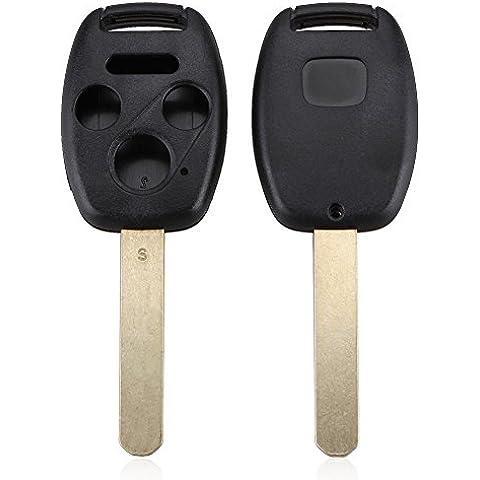 koola de carcasa de sin llave a distancia Key Fob Uncut blade para Honda Accord 03–10Pilot,