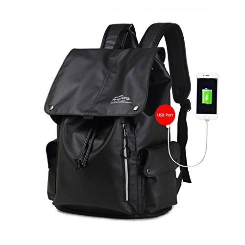 Jungen Schultasche Schwarz Camouflage Rucksack Wasserdichte Tasche