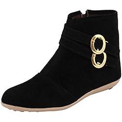 ABJ Fashion Women's Stylish Black Boots7 UK