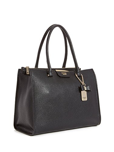 Guess Damen Top-Handle-Tasche, 13 x 23.5 x 31 cm Schwarz (Nero)
