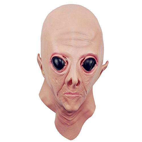 Kostüm Party Big-Eyed Aliens Spuk Maske Requisiten Zubehör Cosplay Kleid für Spukhaus Dekoration (Big Alien Kostüm)