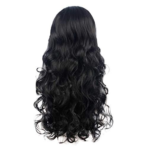 LMRYJQ Mädchen Mode Wigs Sexy Gradient Black Party Perücken Langes lockiges Haar Mischfarben Synthetische ()