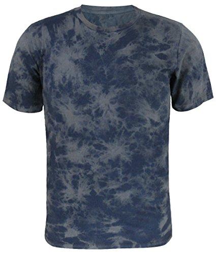 Tie Dye Cotton Unregelmäßiges Muster T-Shirts Herren (M, Kaffee) (Klein Dye Tie Herren)