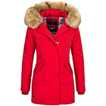 Rote winterjacke damen kurz