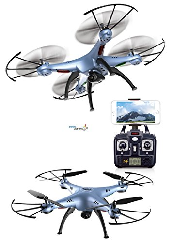 in indecorous come forth compel to changing accredit on planets® X5HW HD Quadcopter / HD Kamera / 4.5 Kanal 2.4 Ghz / Headless  Return-Home Funktion NEUHEIT 10/2016 (X5HW, blau)