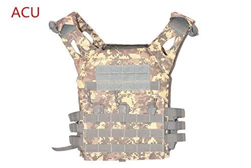 YANODA Jagd Weste Jagd Tactical Accessoris Körperschutz JPC Plate Carrier Weste Ammo Magazine Chest Rig Airsoft Paintball Gear Loading Bear Westen Jacke (Color : ACU, Size : Free Size) -