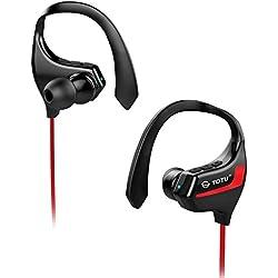 TOTU BT-2 Auriculares Bluetooth 4.1 Sport Inalámbricos Stereo Cuello con micrófono resistente al sudor para iOS, Android, iPad, Smartphones
