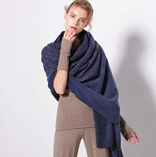 xy Damen Herbst Und Winter Warmes Hemd Mode Damen Wrap Comfort Print Jacke Decke Großen Schal,A,Einheitsgröße Print Wrap Jacke