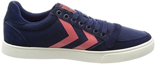 Hummel Damen SL. Stadil Herringbone Low Sneakers Blau (Peacoat)