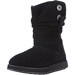 Skechers Women's Keepsakes-Freezing Temps Faux Fur Boot,Black,6.5 M US