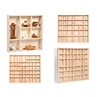 Alsino ® Wooden Display Case Cabinet | for Wall | Untreated natural Pinewood | Different Dimensions | Compartments | Multifunctional | Hanging