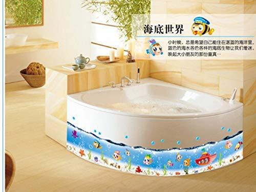 ZBYLL Wall Sticker DIY 3D Bubble Sea World Fisch Wasserdicht dekorative Bad Küche Wand Aufkleber