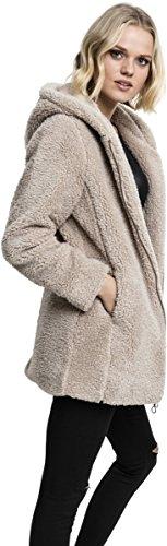 Urban Classics Ladies Sherpa Jacket, Sweat-Shirt à Capuche Femme Beige (Sand 208)
