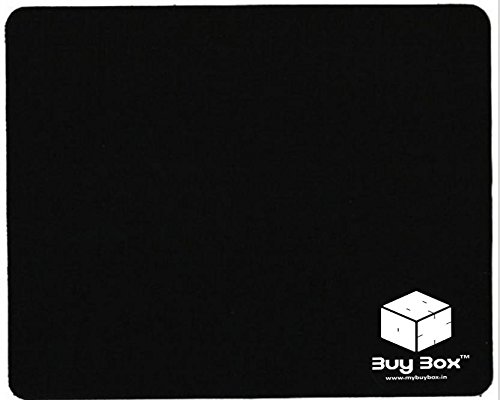 BuyBox Rubber Mouse Pad With 3mm Thickness 1030 Skid Resistant Surface,Black