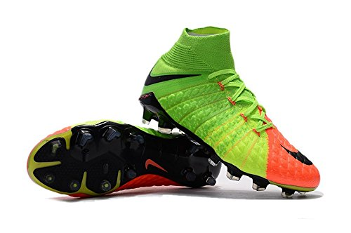 Nike Hypervenom Phantom 3 Ag-Pro, Chaussures de Football Homme Vert (Electric Green/black/hyper Orange/volt)