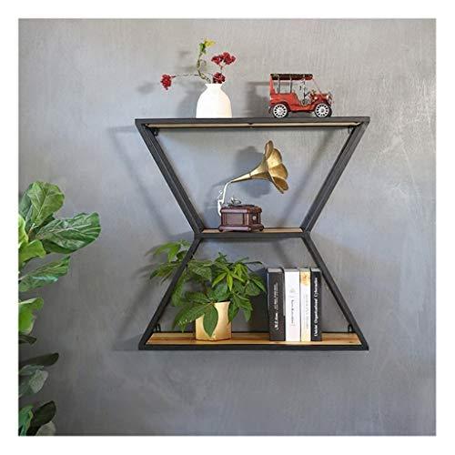 Colgador de la pared de la sala de estar, estante de madera...