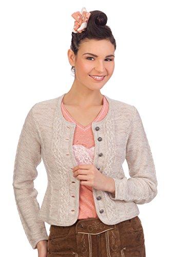 Damen Trachten Strickjacke - BONN - rot, natur, Größe S