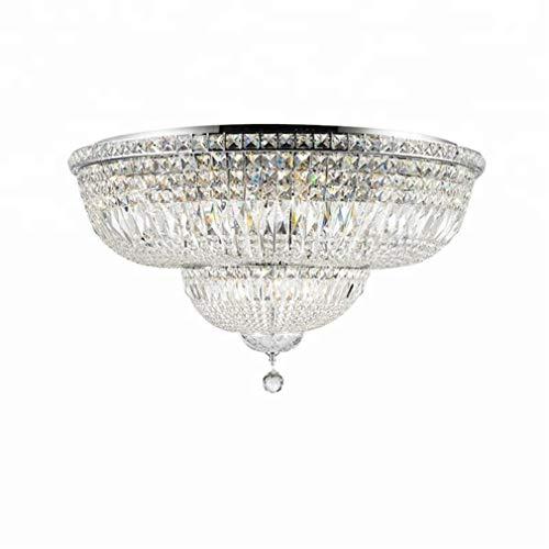 Empire Silber Moderne Kronleuchter (Pendelleuchten Kronleuchter Deckenlampe Pendellampe Beleuchtung Empire Gold Crystal Deckenleuchte Luxus K9 Crystal Silber Deckenleuchte Beleuchtung Glanz Breite 60Cm H35Cm)