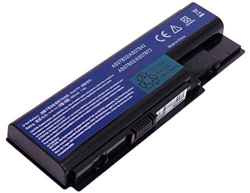 YASI MFG Notebook Laptop Akku AS07B42 AS07B52 AS07B72 AS07B32 für Acer Aspire 5940G 5942G 8930G 8935G 8940G AS07B42 Akku [14.8V 8 Zellen 4800mAh]
