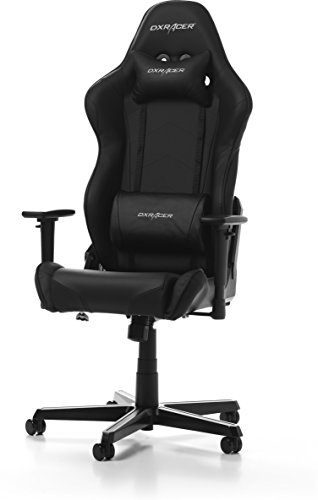 DXRacer Racing Oh/rz0/N Gaming Chaise, Cuir synthétique, Noir, 67 x 67 x 132 cm