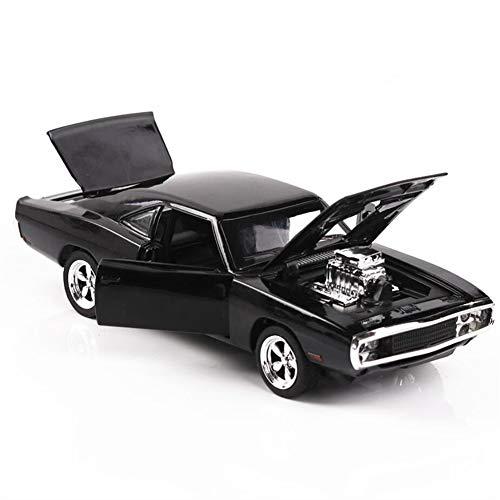 (Spielzeugauto-Legierung ziehen Sich Autos mit Ton und Licht Kinderspielzeug 1:32 Modell schnell wütend,Black)
