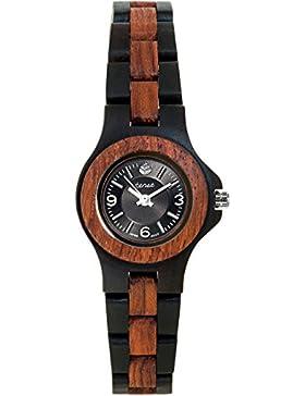 TENSE // Die Holzuhr - Womens Northwest Sandelholz/Rosenholz - schwarz/braun - Damen-Uhr - Holz-Uhr L4300DR-BSIL